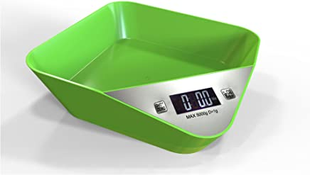 Kitchen Scale 5000g x 1g Digital Scale Kitchen Food Weight Tool Electronic LCD Display (Green)