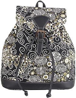 Signare Tapestry Fashion Backpack Rucksack for Women with Gustav Klimt The Kiss Design (RUCK-KISS)