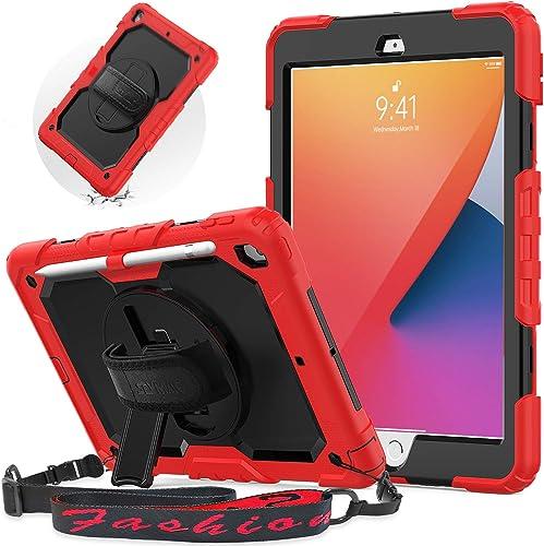 SEYMAC Coque iPad 8e génération 10,2 Pouces 2020, Housse iPad 7e génération 2019, Housse de Protection 3 Couches avec...