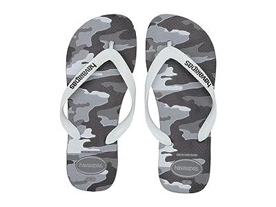 Havaianas Top Camo Sandal (Grey Steel/White) Men