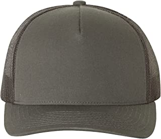 2040USA Yupoong 5-Panel Retro Trucker Snapback Hat - 6506 by Flexfit (One Size, Charcoal)