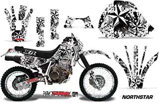 AMR Racing MX Dirt Bike Graphic Kit Sticker Decals with Number Plates Compatible with Honda XR400 1996-2004 - NorthStar White