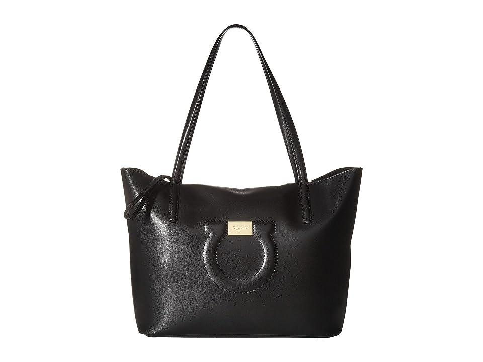 bbdc6db419 Salvatore Ferragamo 21H019 City Tote (Nero) Tote Handbags
