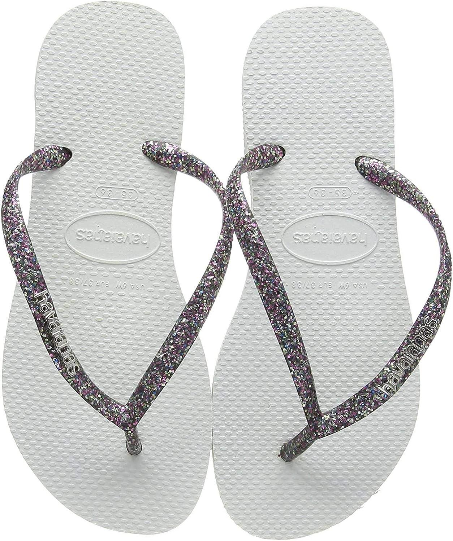Havaianas Womens Slim Logo Metallic Flip Flops