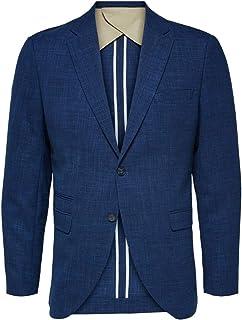 Selected Men's Slhslim-Oasis Blue BLZ B Noos Blazer