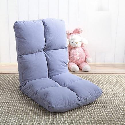 榻榻米懒人沙发靠垫折叠沙发卧室休闲床上午睡靠椅舒适多功能可折叠日式简约靠背椅 (小8格款, 浅灰色)