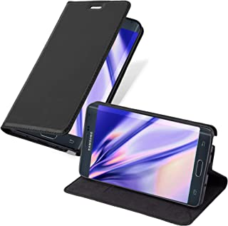 Cadorabo Book Case Works with Samsung Galaxy Note Edge in Night Black – with Magnetic Closure, Stand Function and Card Slot – Wallet Etui Cover Pouch PU Leather Flip