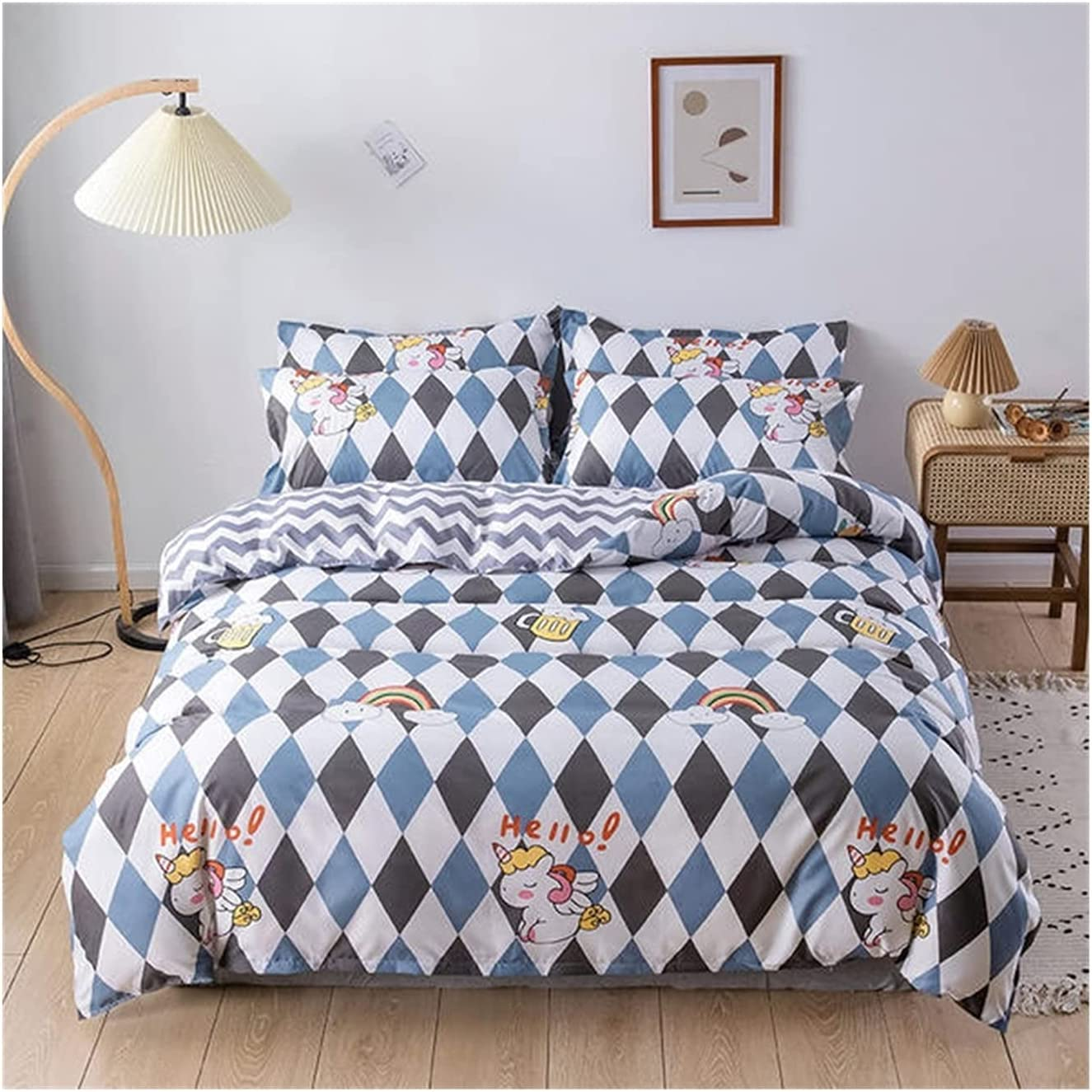 LSDJ QMDSH Home Textile In a popularity Girl Outstanding Bedding Duvet Set Cover Peach Pink
