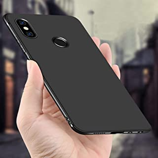 Ankirant Flexible Soft Shockproof Back Case Cover for Xiaomi Mi Redmi Note 5 Pro (Black)