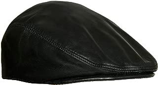 Men's Real Soft Leather Ivy Beret Newsboy Gatsby Golf Cabbie Flat Cap Hats