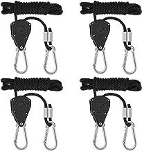 """MengH-SHOP Touw Ratchet Verstelbare Ratchet Hangers Touw Heavy Duty 1/8 """"Ratchet Haken voor Grow Room Equipment 140lbs Cap..."""