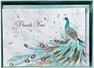 Punch Studio Peacock Thank You Cards With Envelopes