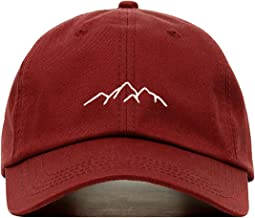 Mountains Baseball Hat, Embroidered Dad Cap, Unstructured Soft Cotton, Adjustable Strap Back (Multiple Colors)