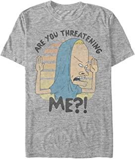 Beavis and Butt-Head Men's Cornholio are You Threatening Me T-Shirt