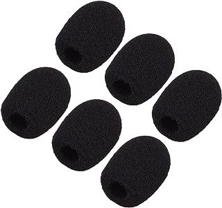 Sunmns 6 Pack Mini Size Lapel Headset Microphone Windscreen Foam Cover, Black