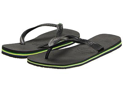 Havaianas Brazil Flip Flops (Black) Men