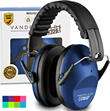 Earmuffs for Kids Toddlers Children - Hearing Protection Ear Defenders for Small Adults Women - Foldable Design Ear Defenders Adjustable Padded Headband Noise Reduction (Dark Blue)
