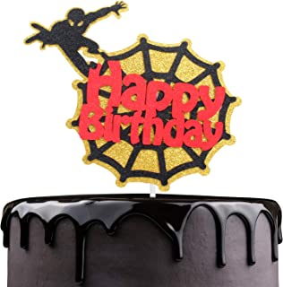 Spider-Man Happy Birthday Cake Topper - Captain America Theme Party Décor - Baby Shower Teenager Boy's Birthday Party - Adorable Marvel Avengers Superheroes Cake Decoration