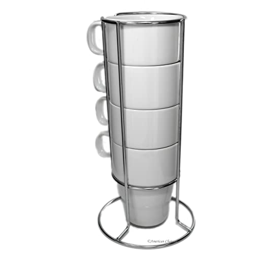 Stackable Coffee Mugs With Rack Amazoncom