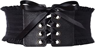 GRACIN Wide Elastic Corset Belt, Cosplay Obi Belts Stretchy Waistband for Women