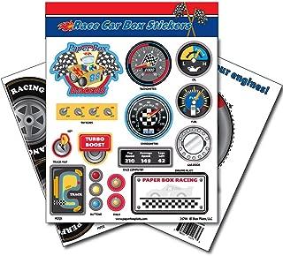 Paper Box Pilots Cardboard Box Race Car Stickers