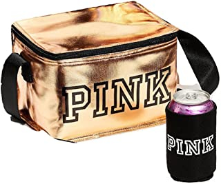 Victoria's Secret Pink New Cooler + COOZIE Color Gold NWT, 5 7/8