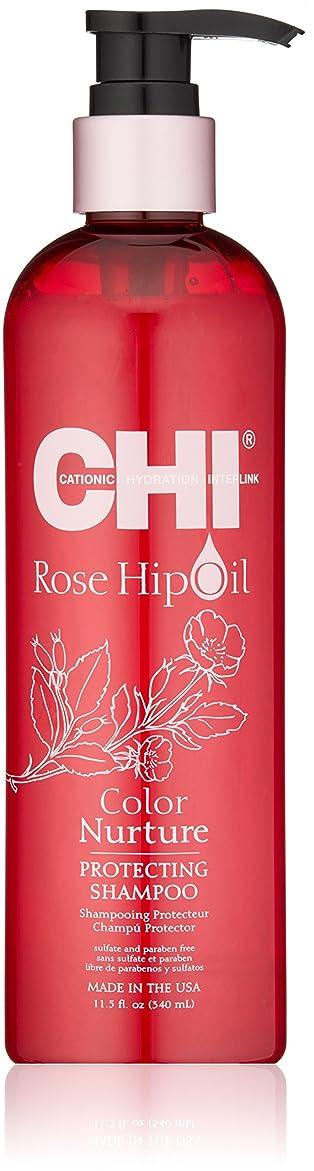 頑固なフェザー災害CHI Rose Hip Oil Color Nurture Protecting Shampoo 340ml/11.5oz並行輸入品