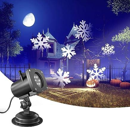 投影仪灯,氧气 LED 派对投影灯,防水彩色投影灯,带 12 个滑轮,适合室外/室内派对、圣诞节/万圣节/女孩¡ù 夜间、假日装饰
