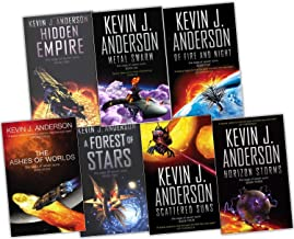 Kevin J. Anderson Saga of Seven Suns 7 Books Collection Set RRP: £62.24 (Saga of Seven Suns) (Saga of Seven Suns Collection) (Hidden Empire, A Forest of Stars, Horizon Storms , Scattered Suns , Of Fire and Night , Metal Swarm , The Ashes of Worlds)