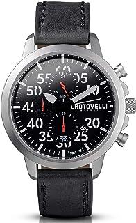 Chotovelli Aviator Mens Watch- Chronograph Display, Silicone Military Strap 3300