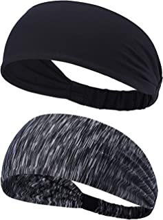 BOTINDO Headbands for Men and Women, Sweatbands for Running, Yoga and Training, Ultimate Performance Stretch & Moisture Wicking, 2 Pack