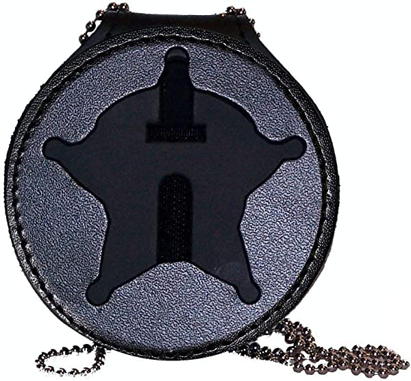 Milwaukee County Sheriff Belt Clip Badge Holder With Pocket And Chain Cutout PF768 2 65 Inches Tall