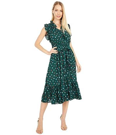 Kate Spade New York Blackberry Ruffle Wrap Dress (Pine Grove) Women
