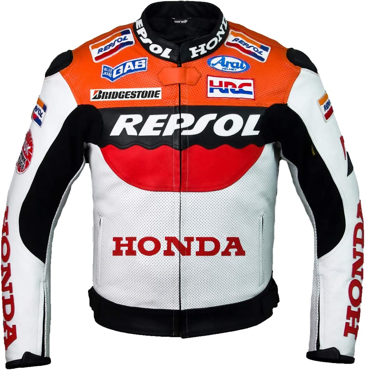 Complete Free Shipping Repsol Team Miami Mall Racing Leather Jacket M hump EU50 without a