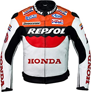 Repsol Team Racing Leather Jacket (without a hump) (L (EU52-54))