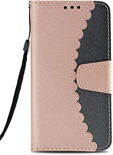 iPhone 7 Plus Case, iPhone 8 Plus Wallet Case,Voanice PU Leather Case with Kickstand Card Holder ID Slot Flip Cover Shockproof Protective Magnetic for Apple iPhone 7 Plus/8 Plus &Stylus-Rose Gold/Gray
