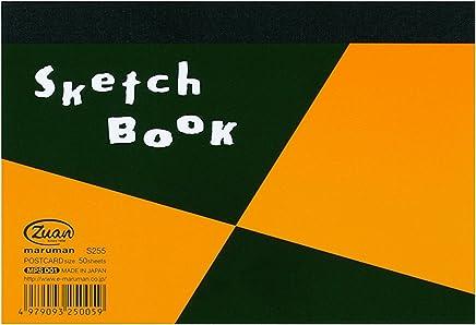 マルマン スケッチブック 図案シリーズ ポストカードサイズ 画用紙 天のり製本 S255