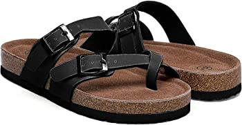 Nanasbeauty Women's Flat Cork Sandals