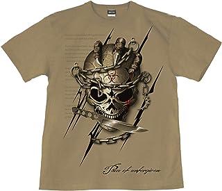 [GENJU] Tシャツ スカル 十字架 ドクロ メタル ロック 裏もデザイン有 メンズ キッズ