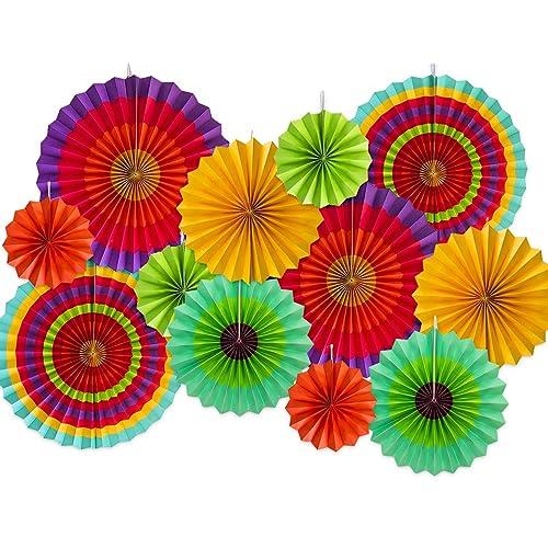 0ae180b4831 Moon Boat 12 Paper Fan Mexican Fiesta Cinco De Mayo  Carnival  Kids Party