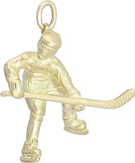 SILVEGO Collier Homme RRC0884-XHB Plaque didentification Hockey Goalie Acier inoxydable