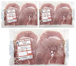 Dan'l Boone Inn Brand Country Ham Center Biscuit Slices 3 - 8 Oz Packs