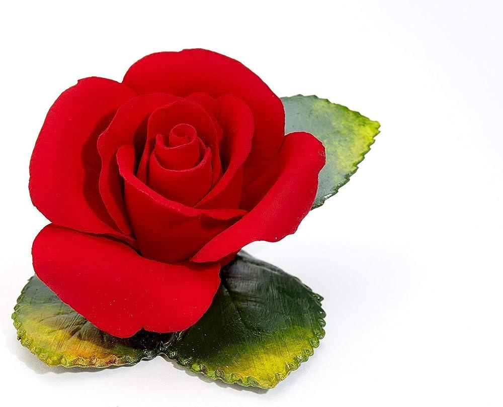 Rosa rossa medium dolly ,  in porcellana