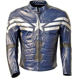 coolhides Men's Winter Soldier Biker Leather Jacket