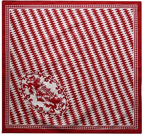 Harrys-Collection Unisex Bandana Bindetuch 100% Baumwolle (1 er 6 er oder 12 er Pack), Farbe:Bayern rot