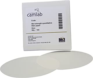 47 mm Pack of 100 0.4 /µm Camlab 1173443 Grade 484 Polycarbonate Membrane Filter Paper