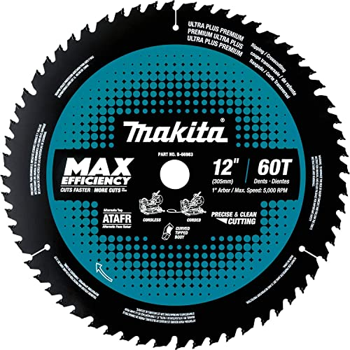 """new arrival Makita B-66983 12"""" 60T Carbide-Tipped Max Efficiency 2021 Miter discount Saw Blade outlet online sale"""