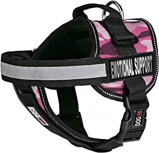 Dogline Unimax Dog Harness Vest with Emotional Support Patches Adjustable Straps Breathable Neoprene for Identification Tr...