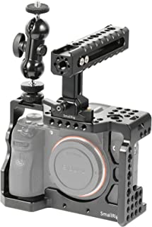 SMALLRIG Sony A7RIII/Sony A7 IIIカメラ専用ケージ ILCE-7RM3 / a7R Mark IIIケージキット ダブルボールヘッド シューマウント付き NATOレール付き トップハンドル付き 拡張カメラケージ 軽量 取付便利 耐久性 耐食性 DSLR 装備-2103