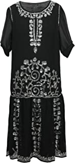 beaded charleston dress